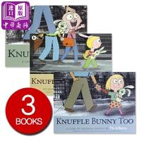 【中商原版】古纳什兔子三步曲 英文原版 Knuffle bunny 莫威廉斯 名家绘本 3-6岁