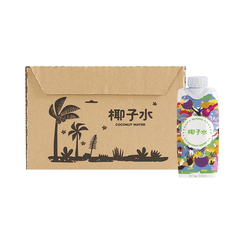 网易严选 马来西亚直采 椰子水 330毫升*12瓶 非浓缩还原,低卡零脂肪