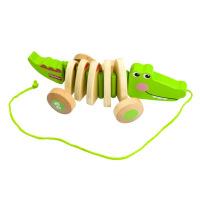 费雪 Fisher-Price )木制拖拉玩具 鳄鱼 学步爬行FP1008