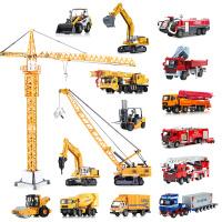 凯迪威工程车 儿童玩具消防汽车模型仿真合金吊车卡车挖掘机车模