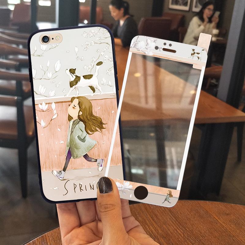 苹果6手机壳女款iphone6s全包防摔plus个性创意6P潮硅胶软壳可爱