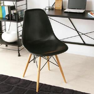 幽咸家居 餐椅 个性彩色家用椅 现代简约风格 PP面 环保休闲椅子实木腿餐厅椅子 家用椅