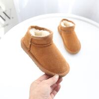 冬季新款儿童雪地靴女童短靴冬季男童童宝宝鞋加绒靴保暖靴子棉鞋秋冬新款