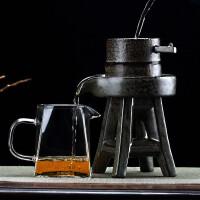 创意陶瓷泡茶器过滤网石磨过滤器茶具漏斗茶叶个性茶漏架功夫配件