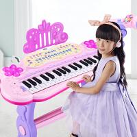 弹奏钢琴玩具 儿童电子琴玩具1-3-6岁带麦克风初学宝宝女孩多