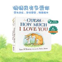全店�M300�p100】Guess How Much I Love You 猜猜我有多�勰� 英文原版�和�情商�⒚杉�板��廖彩