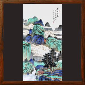 《云山韵色》石宏敬 广西美术家协会会员  专职画家【BH0ML3005】