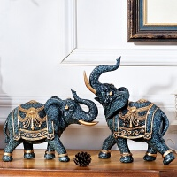 客厅酒柜摆件装饰品大象欧式 创意房间电视柜摆设软装书柜工艺品