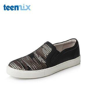 Teenmix/天美意春季专柜同款潮流撞色男休闲鞋63H05AM6