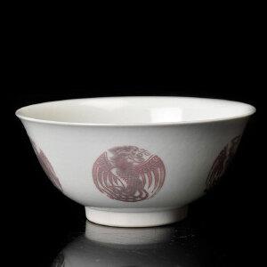 清乾隆(官)  釉里红团鹤纹碗