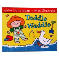 【全店300减100】进口英文原版《扫帚上的房间》Toddle Waddle英语读物儿童文学课外阅读书 儿童趣味幼儿益智