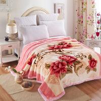 秋冬学生宿舍结婚庆拉舍尔毛毯双层保暖加厚盖毯珊瑚绒毯子1.8米