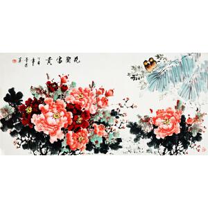李华菊《花开富贵》著名牡丹画家 有作者本人授权