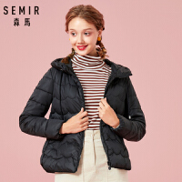 【1件3折】森马2018冬季新款韩版女装学生小清新休闲面包服短款外套棉服