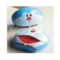 日照鑫 新款时尚机器猫 叮当 隐形眼镜盒可爱头型美瞳伴侣盒护理水盒(一个装)