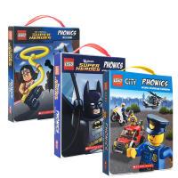 乐高 进口英文原版书Lego City Phonics 36册盒装 乐高城市拼读学习故事会 学乐出版书籍绘本儿童读物