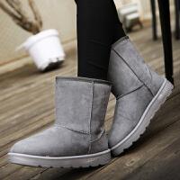 西瑞中筒雪地靴女保暖加绒棉靴秋冬时尚套筒女靴子BL5805