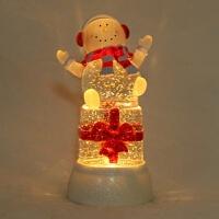 水晶雪人礼物 LED发光飘雪摆件定制*女友455 13.5*13.5*26