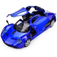 仿真帕加跑车合金车模 儿童玩具声光回力小汽车模型男孩玩具