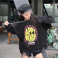 酷酷的服装社会女带帽卫衣街头嘻哈hiphop韩版Oversize风爵士舞服