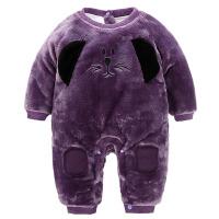 婴儿棉衣服春秋冬装男女0-3-6个月宝宝加绒加厚保暖新生儿连体衣