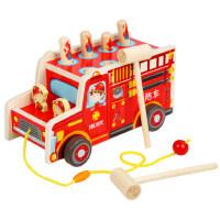 打地鼠宝宝木质拖拉消防车玩具幼儿童1男婴儿2周岁女小孩益智敲打
