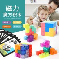 磁力性立体七巧板玩具益智拼图俄罗斯方块智力索玛立方块儿童动脑