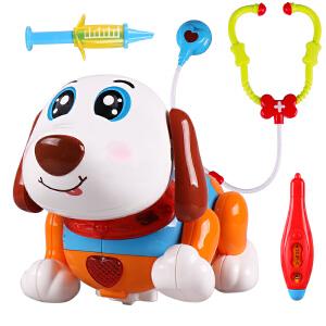 橙爱 KOS GROUP笨笨狗电动多功能早教智能触摸感应机器人宠物玩具音乐古诗谜语