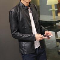 新款春秋皮衣男士海宁韩版PU皮夹克青年学生男式短款修身型外套潮