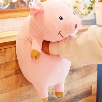 可爱猪娃娃毛绒玩具趴趴猪公仔抱着睡觉娃娃玩偶抱枕靠垫