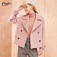 拉夏贝尔毛呢外套女装秋冬季新款韩版宽松赫本风流行羊毛短款呢子大衣