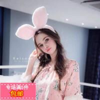 范冰冰同款白色兔耳朵发箍超大夸张卖萌可爱发卡头箍韩版发饰头饰