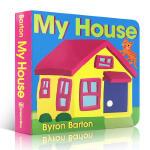 英文原版 My House Board Book我的房子儿童启蒙学前早教经典故事书亲子阅读My Car 系列 Byro