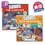 【中商原版】佩格和小猫绘本2册 英文原版 Peg + Cat 儿童绘本 卡通动画 贴纸书 4-8岁