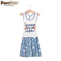 【1件3折 到手价:179】Pawinpaw宝英宝卡通小熊童装夏季款女童连衣裙PCOM72648D