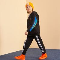 【2件3折:149】巴拉巴拉旗下巴帝巴帝2019冬男童中大童撞色开衫儿童加绒保暖运动套装