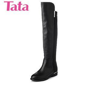 Tata/他她 年专柜同款小牛皮女靴2YW98DC5