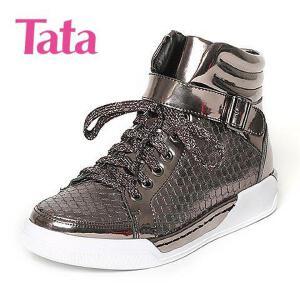 Tata/他她专柜同款刀割牛皮女休闲靴FG641DD6