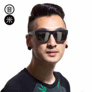 音米墨镜男士太阳镜偏光复古圆脸眼镜开车司机镜可配近视太阳镜男