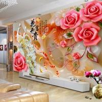十字绣成品花开富贵九鱼图白玉孔雀绣好的新款客厅大幅挂画
