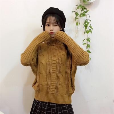 韩版ins高龄毛衣女软妹浅白色内搭甜美毛线针织衫搭配裙子的上衣 发货周期:一般在付款后2-90天左右发货,具体发货时间请以与客服协商的时间为准
