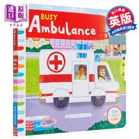 【中商原版】Busy系列 繁忙急诊室 Busy Books Busy Ambulance 低幼启蒙认知操作书 纸板书 英
