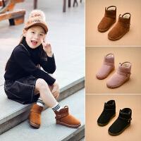 冬季儿童雪地靴男童短靴2018新款童靴中大童加绒女童靴子保暖棉靴休闲鞋