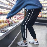 韩版冬装男士休闲裤男学生运动百搭加绒修身小脚长裤