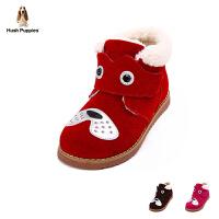 【159元2双】暇步士儿童雪地靴冬季新款加毛小狗高帮靴子(4-9岁可选) P61146