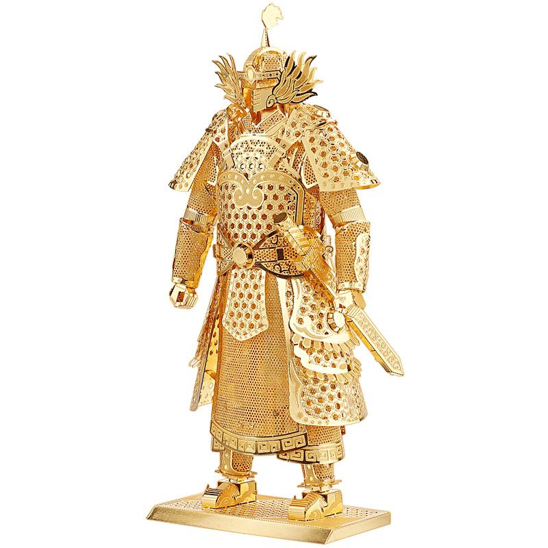 3D立体拼图金属模型拼装玩具将军战甲高难度手工DIY
