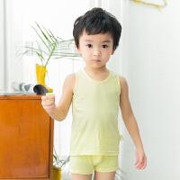 童装儿童背心套装夏纯棉男女童小孩宝宝内衣无袖背心短裤睡衣套装
