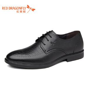 红蜻蜓皮鞋男士商务正装单鞋2018年新品低帮鞋职业办公室皮鞋WTA7071