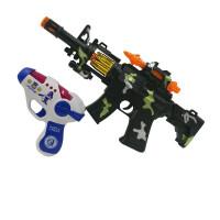 儿童玩具枪1-2-3岁男孩电动声光音乐小号套装宝宝声音灯光枪 配电池