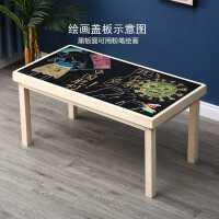 �和���木�e木桌多功能玩具桌�W�桌子拼�b�e木游�蜃兰嫒荽笮☆w粒